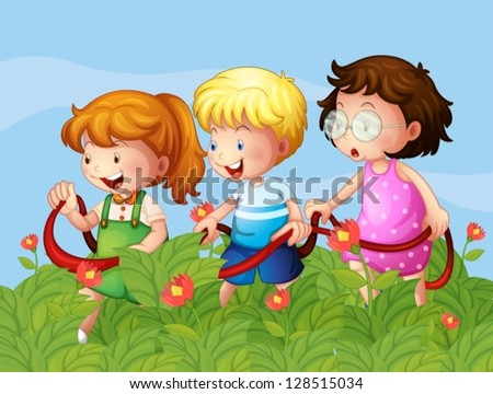 illustration of kids at the