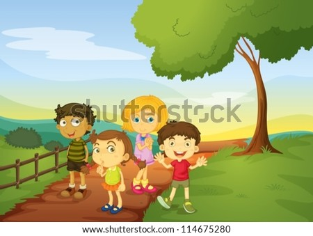illustration of kids in a