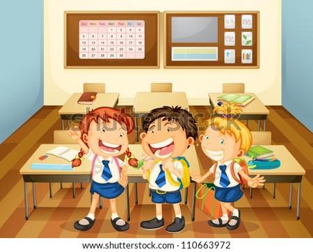illustration of kids in