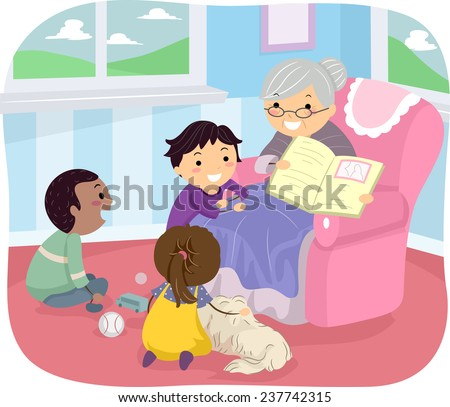 Tell Story With Pictures Grandmother Tell a Story