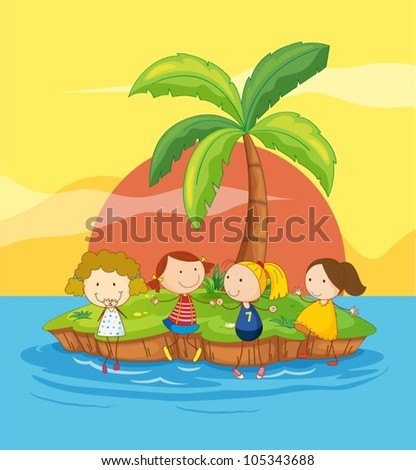 illustration of kids on an