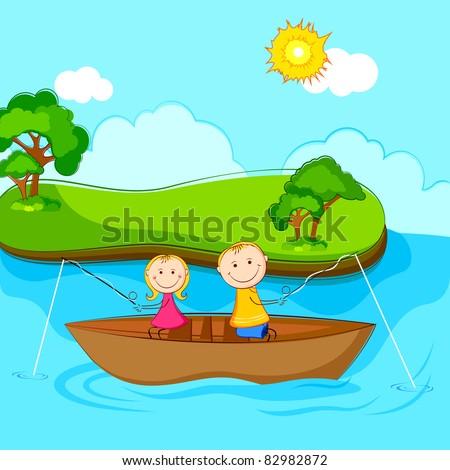 illustration of kids sitting in