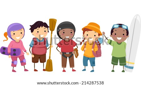 illustration of kids wearing