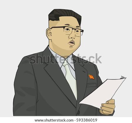 illustration of kim jong un