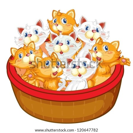illustration of kittens on a
