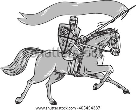 illustration of knight