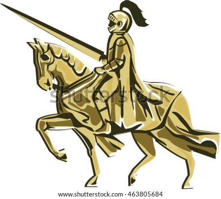 illustration of knight in full