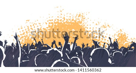 illustration of large crowd of