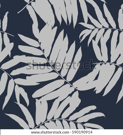 Illustration of  leaf seamless pattern