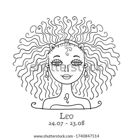 illustration of leo zodiac sign