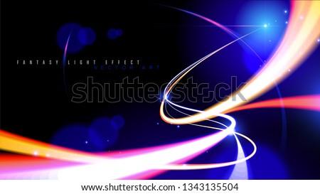 illustration of light speed