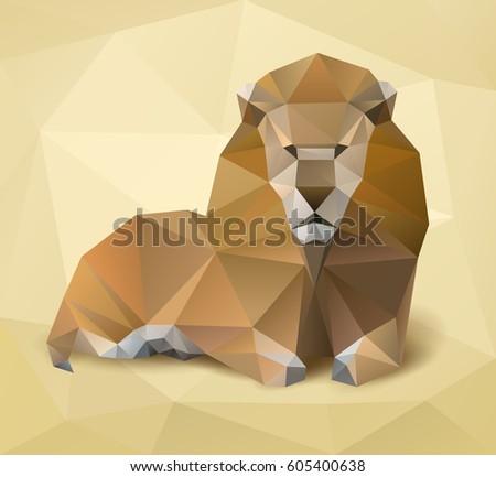 Illustration Of Lion Vector
