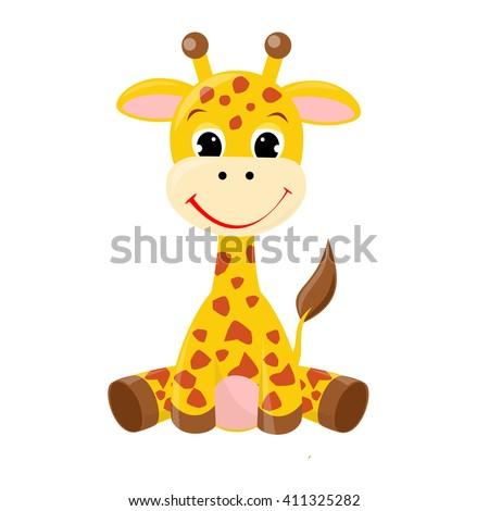 Illustration of little cute giraffe