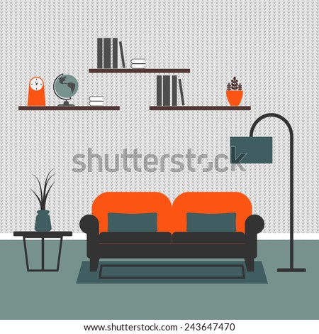 illustration of living room