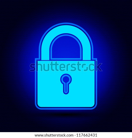 Illustration of lock concept / Security concept