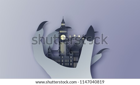 illustration of london city in