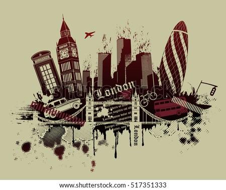 illustration of london...