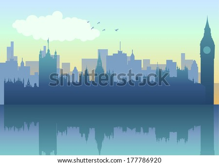 illustration of london skyline