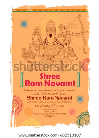 illustration of lord rama  sita