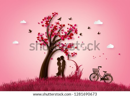 illustration  of love and