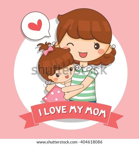 illustration of love my mom