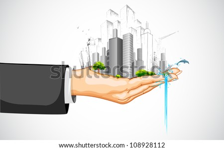illustration of man holding