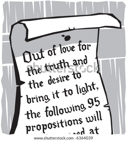 Illustration Of Martin Luther S 95 Theses Posted On The