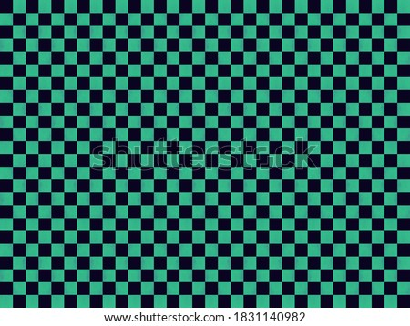 Illustration of material for background of checkered pattern (Green & Black). Stock photo ©