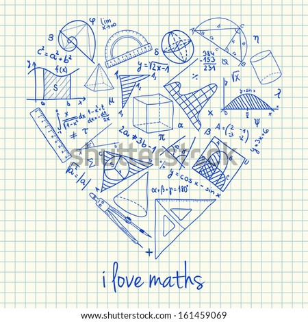 illustration of maths doodles