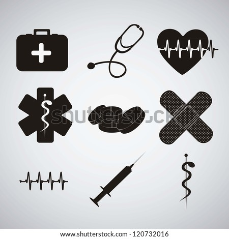 Illustration of Medical Logo Vector in black color vector illustration