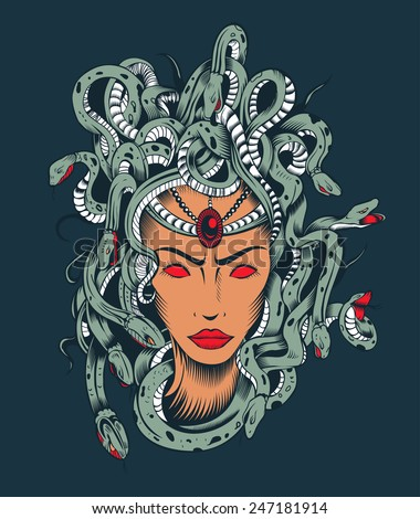 illustration of medusa gorgon