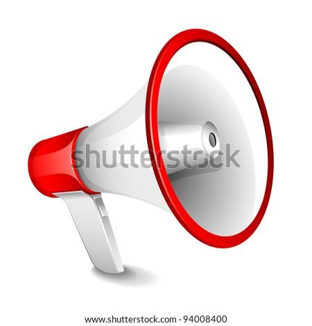 illustration of megaphone on plain white background