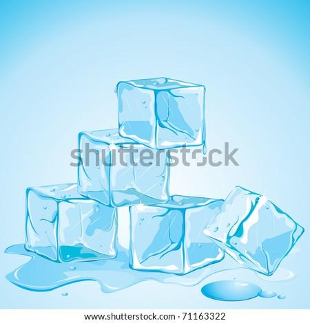 illustration of melting ice