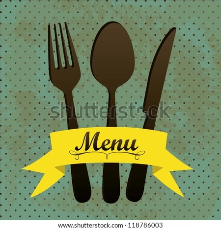 illustration of menu retro....