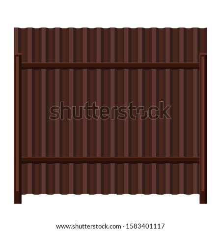 illustration of metal fence
