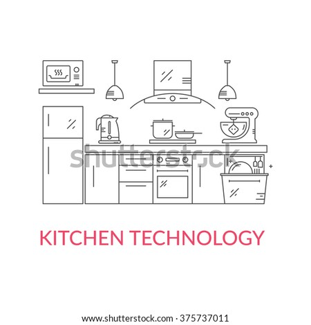 illustration of modern kitchen