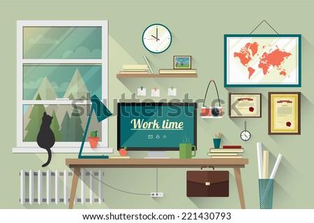 illustration of  modern