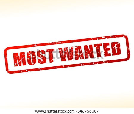 illustration of most wanted