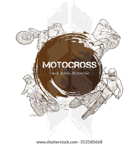 illustration of motocross hand