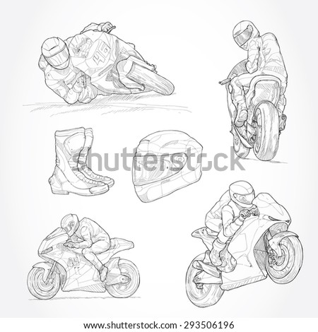 illustration of motorbike