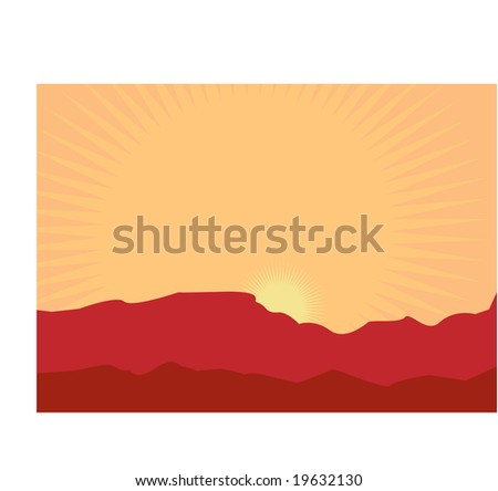 illustration of mountain desert