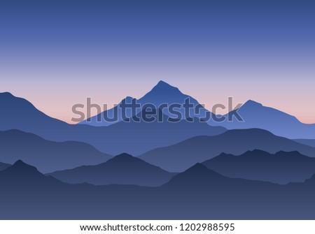 illustration of mountain