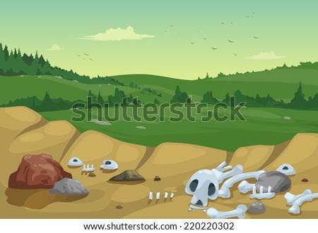 illustration of mountains landscape background vector stock photo