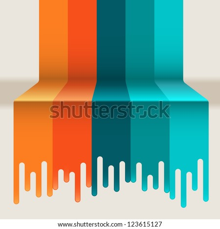 illustration of multicolor paint dripping on abstract background