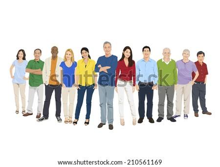 illustration of multiethnic
