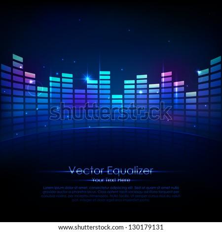 illustration of music equalizer