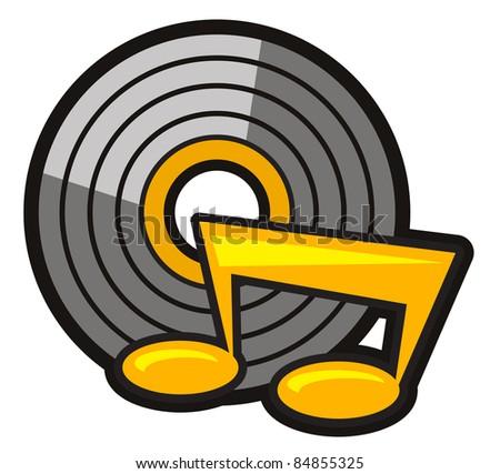 Illustration of music icon