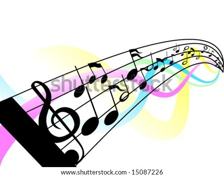music staff clipart. 2010 musical note character