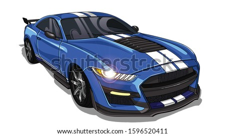 illustration of mustang sport
