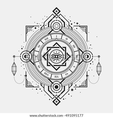illustration of mystic golden